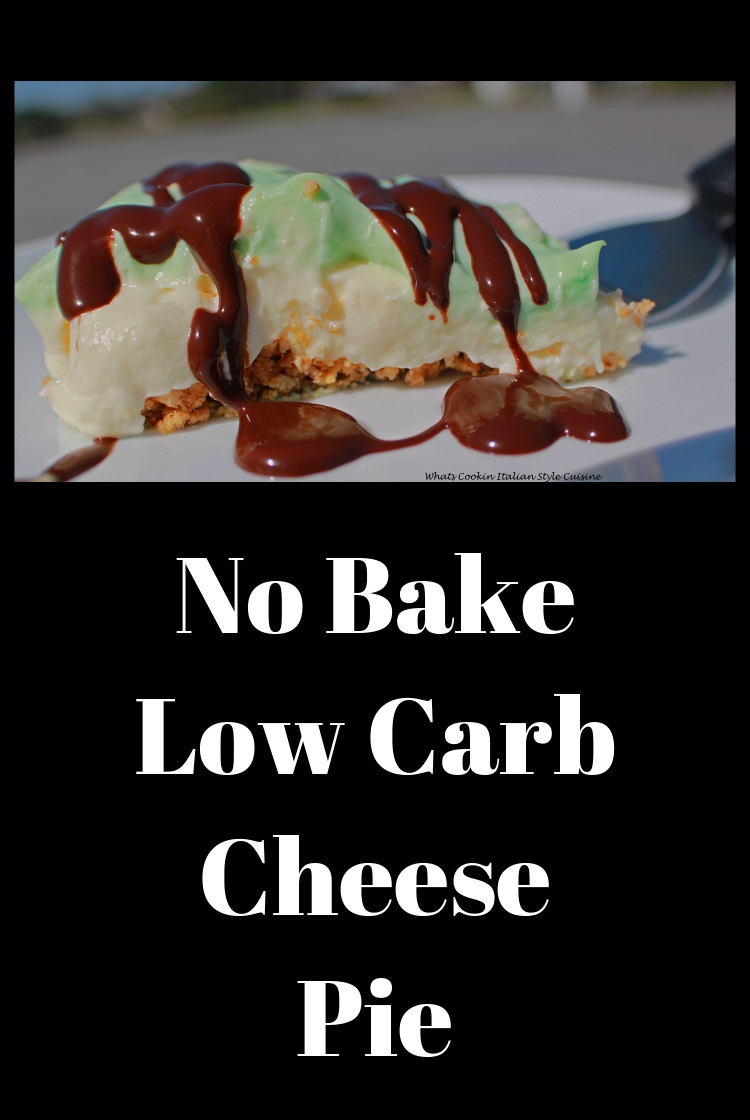 Chocolate topped no bake low carb cheese pie Shamrock cheese pie  is a cream cheese creamy pie thats no bake
