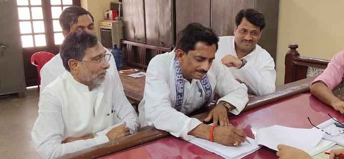 बसपा के 'आरएस' ने सलेमपुर से भरा पर्चा