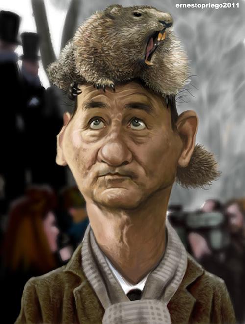 """Caricatura de """"Bill Murray"""" por Ernesto Priego"""