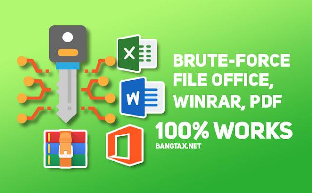 Cara Mengetahui Password File Office, PDF & WinRAR Yang Terkunci Brute-force Attack
