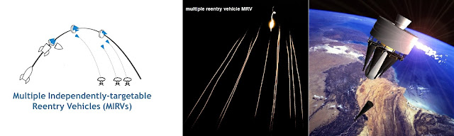 multiple independently targetable reentry vehicle MIRV & multiple reentry vehicle MRV