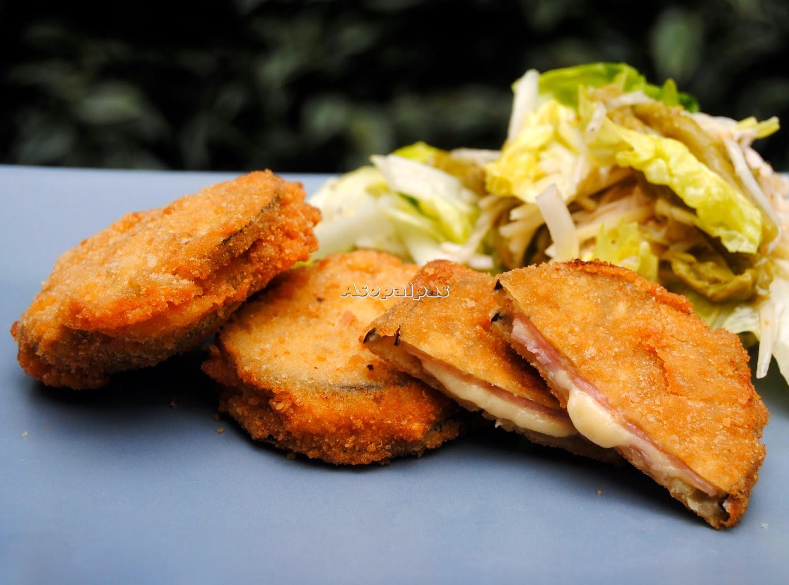 Sándwich de Berenjenas con Jamón York y Queso