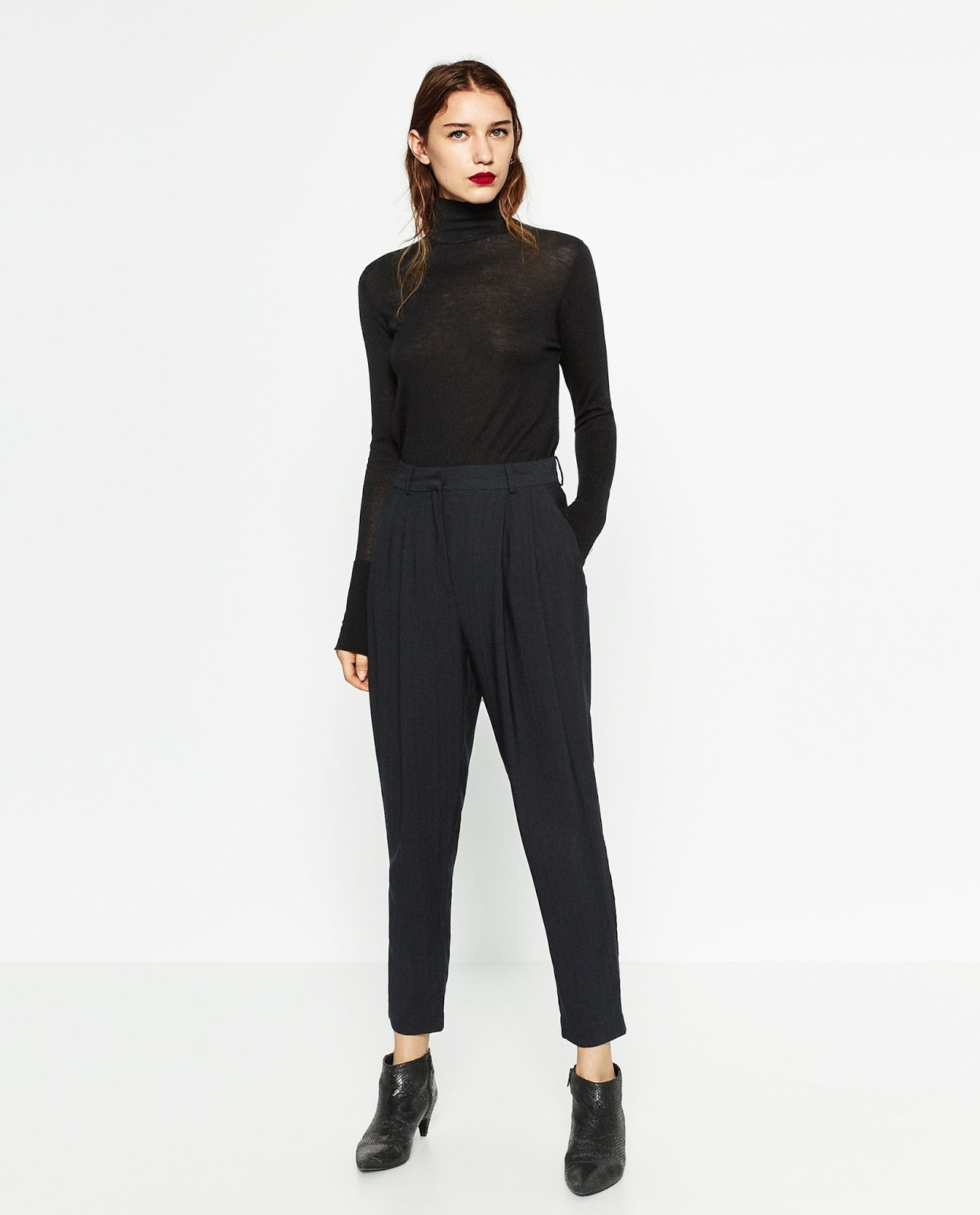 Zara high waisted carrot pants