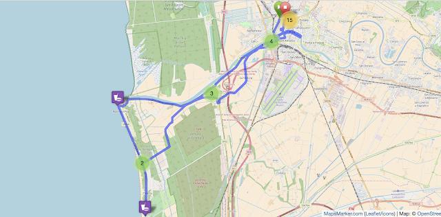 Recorrido Maratona di Pisa - Maraton de Pisa