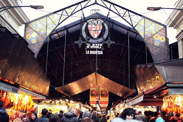 Mercado La Boquería em Barcelona