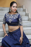 Ruchi Pandey in Blue Embrodiery Choli ghagra at Idem Deyyam music launch ~ Celebrities Exclusive Galleries 050.JPG