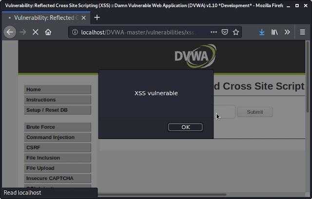 Reflected cross site scripting ( reflected xss dvwa)