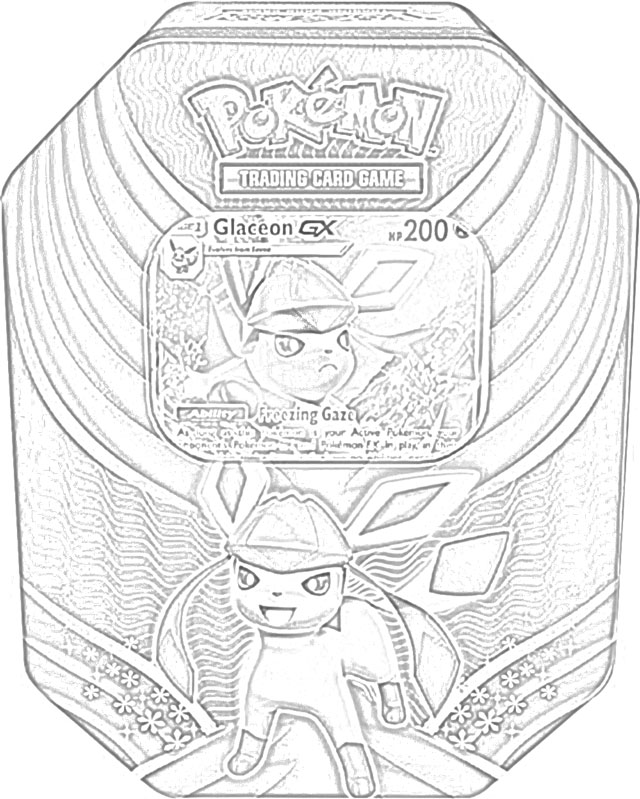 The Holiday Site: Coloring Pages of Pokemon Trading Cards