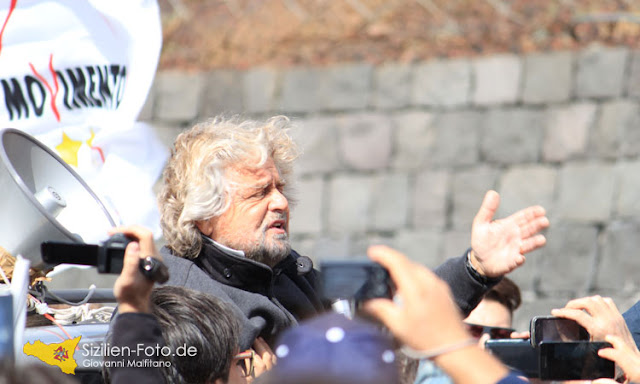 Beppe Grillo auf Sizilien