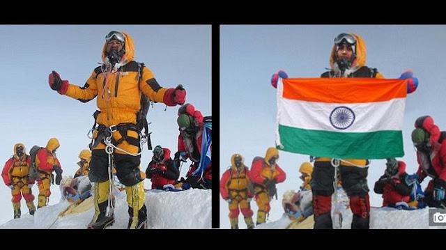 Foto di puncak Everest. Salah satunya hanya foto editan photoshop