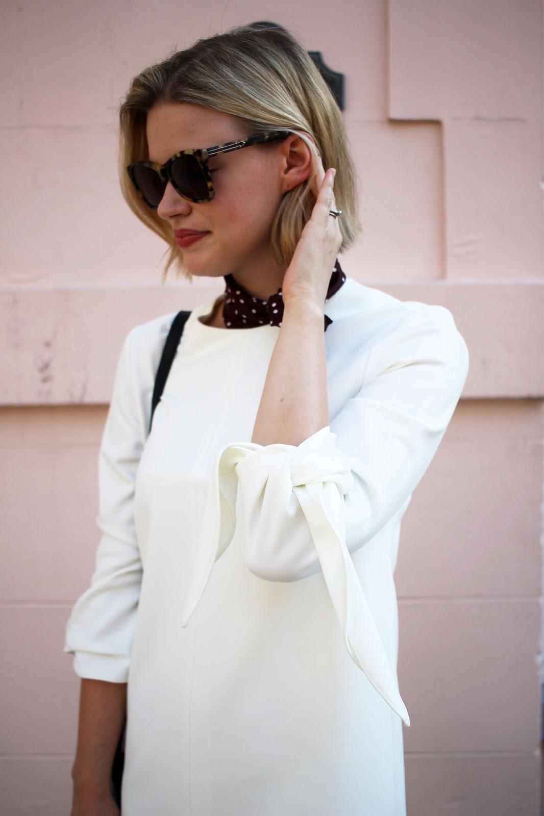 Tibi Tie-Sleeve Dress