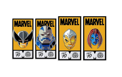 X-Force Portrait Enamel Pins by Tom Whalen x Mondo x Marvel
