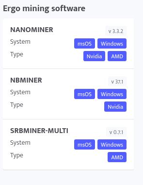 Software mining untuk ergo
