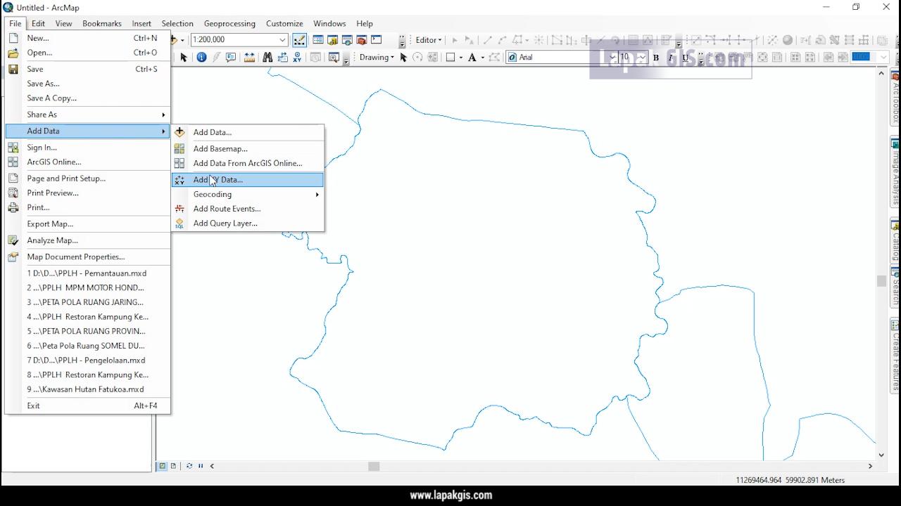 Cara Input Koordinat dari Excel ke Arcgis (UTM-TM3-WGS84)