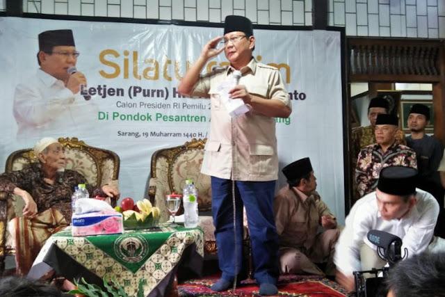 Prabowo: Saya Merasakan Dukungan Luar Biasa kepada Diri Saya...