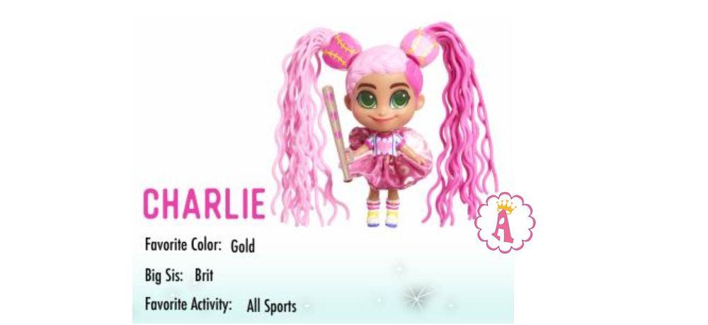 Спортсменка Charlie кукла из серии 2 Hairdorables Short Cuts Jelly Hair с желейными волосами