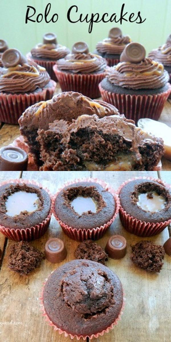 Rolo Cupcakes #Cupcakesrecipes