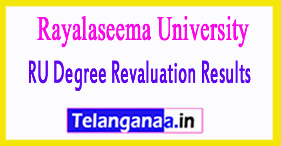 RU Degree Revaluation Results 2018
