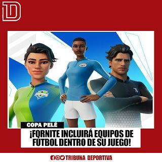 FORNITE INCLUIRÁ EQUIPOS DE FÚTBOL DENTRO DE SU JUEGO: