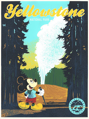 "Disney ""Yellowstone National Park"" Screen Print by Bret Iwan x Cyclops Print Works"