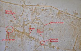 Mapa de L'Hospitalet de 1850