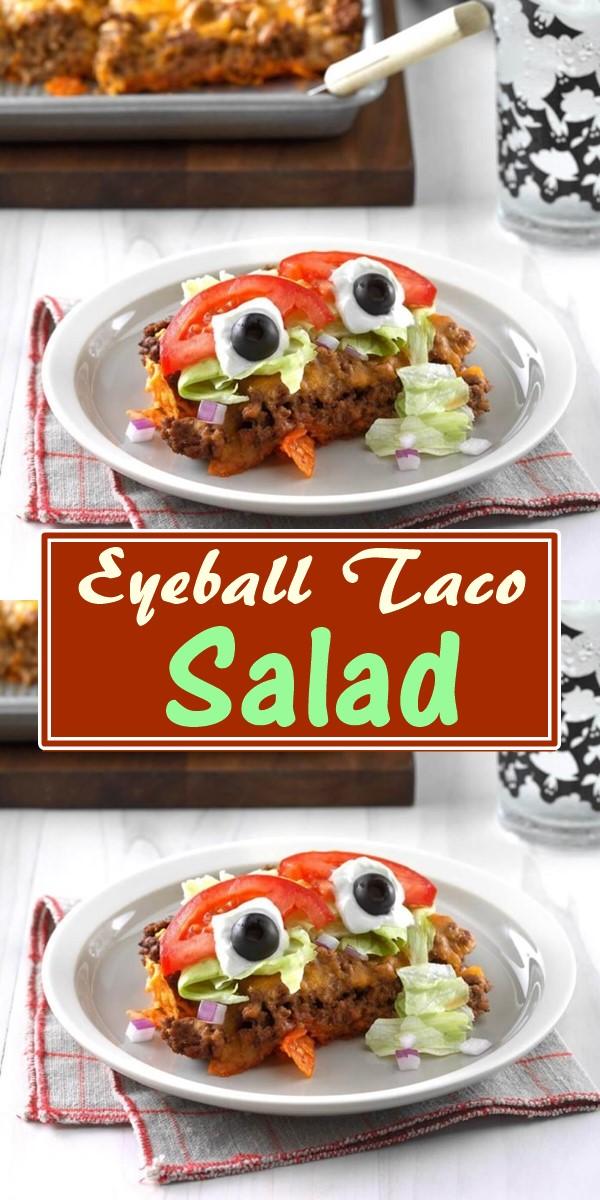 Eyeball Taco Salad #halloweenrecipes