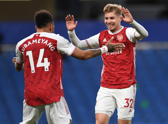 Arsneal duo Aubameyang and Emile smith rowe