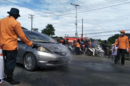 Tunjang PSBB Makassar, Pemkab Maros Lakukan Pemeriksaan di Simpang Lima Mandai