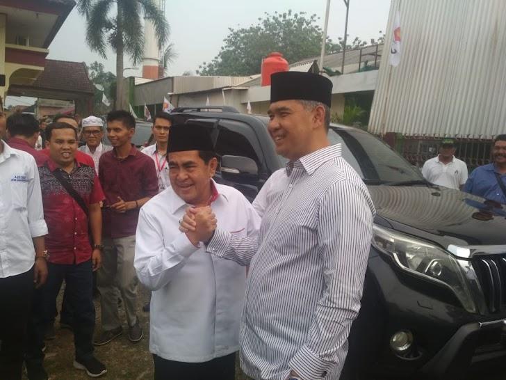Datangi Kantor Partai Gerindra Bersamaan, Duet Fasha - AJB Mencuat