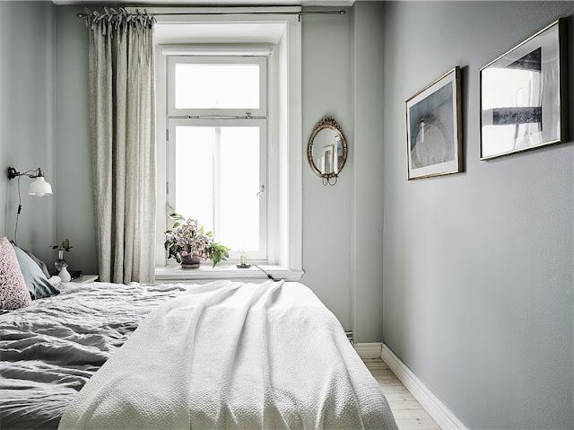 Decoración escandinava en tonos grises para un mini apartamento