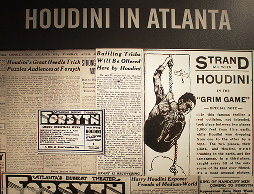 Houdini in Atlanta | Photo courtesy of the Breman Museum