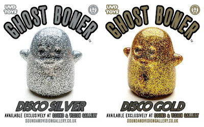 Sound & Vision Gallery Exclusive Ghost Boner Vinyl Figure Disco Silver & Gold Editions by Brian Ewing x UVD Toys