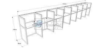 Meja Partisi Kantor 8 Orang - Furniture Semarang