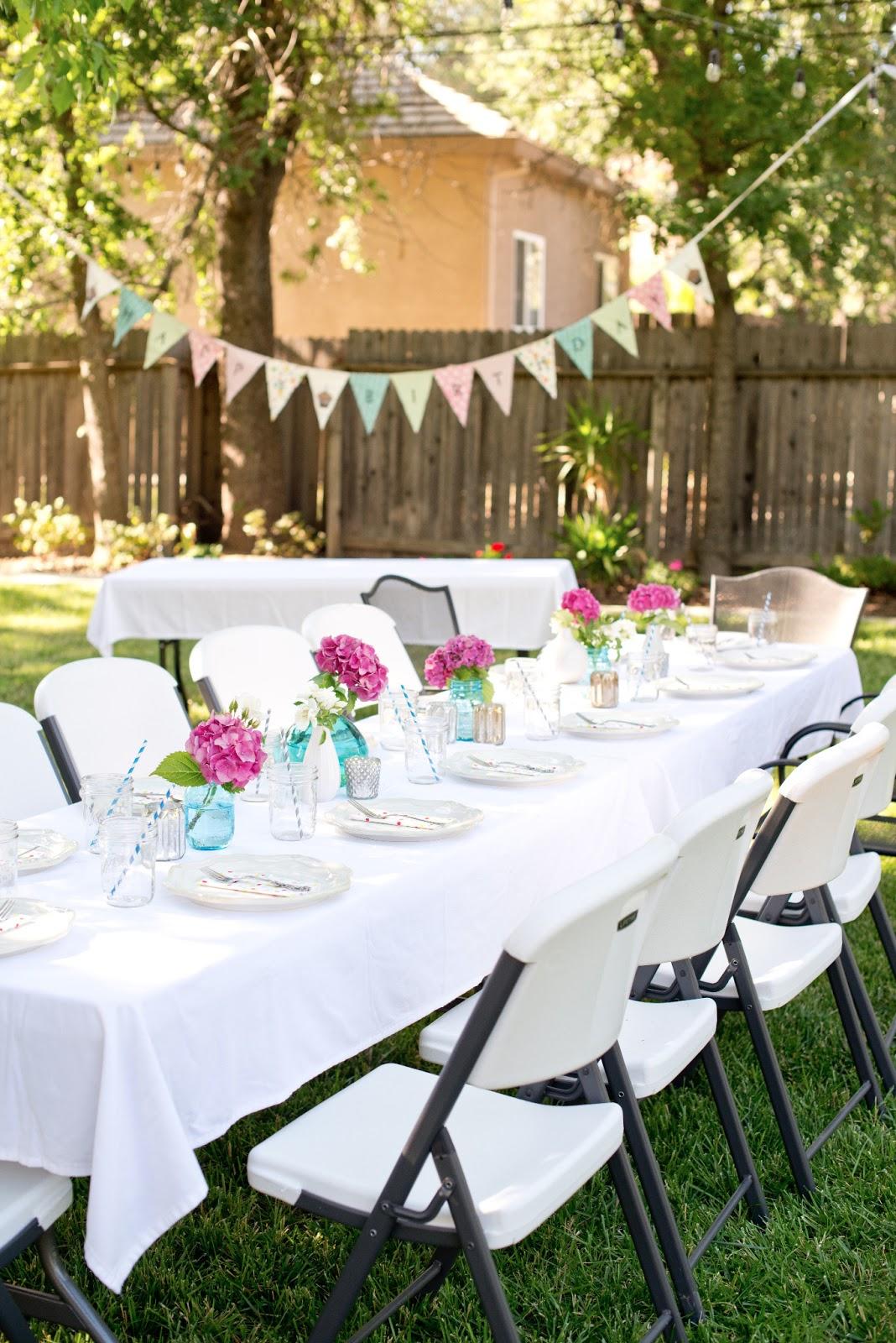 Domestic Fashionista: Backyard Birthday Fun--Pink ...