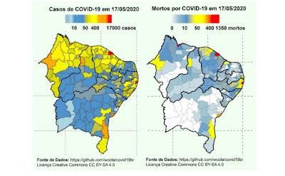 Comitê Científico do Nordeste emitiu panorama do coronavírus na região até a primeira quinzena de maio