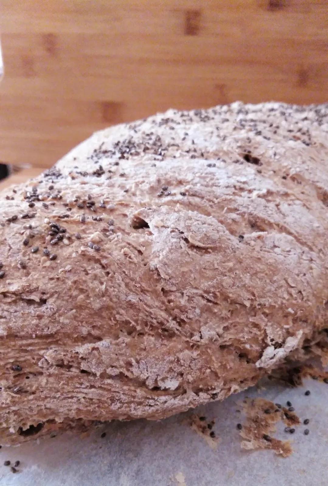 Receta de pan integral casero con panificadora y con levadura fresca de panadería