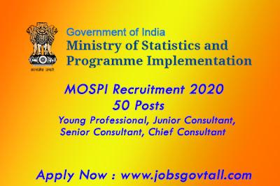 mospi requirement 2020 @jobsgovtall.com