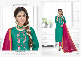 AVC Tara Churidar cotton Slub Dress Material