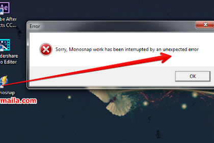 Sorry, Monosnap Work Has Been Interrupted by an Unexpected Error
