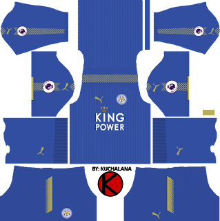 Leicester City Kit 2017/2018 - Dream League Soccer