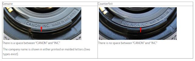 Caution Regarding Counterfeit Canon EF 50mm F1.8 II Lenses for Digital SLR Cameras