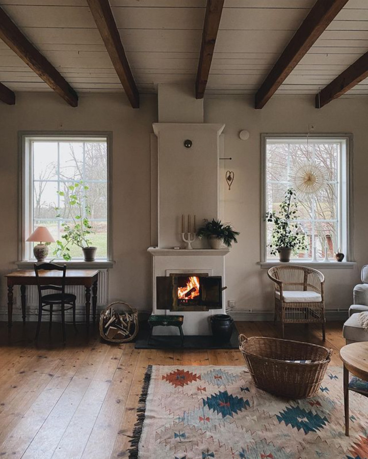 A Cosy Living Space In a Swedish Country Home