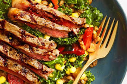 Summer Farro Salad with Grilled Steak Recipe