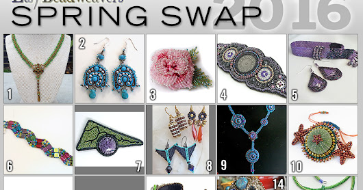 Etsy BeadWeavers: BIG REVEAL   7th Annual Spring Swap 2016