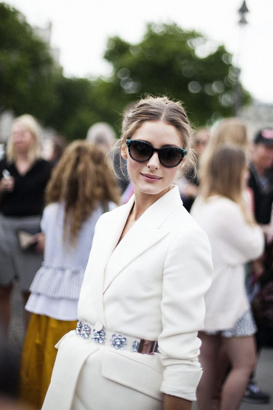 #blog #estilo #style #streetstyle #estiloderua #look #outfit #blazer #blazerbranco #OliviaPalermo