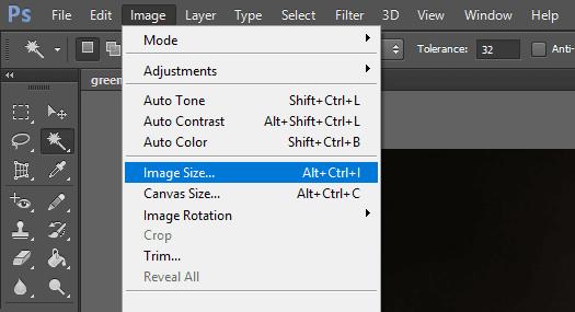 Image Size Aplikasi Photoshop