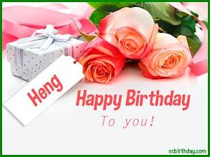 Happy Birthday Heng