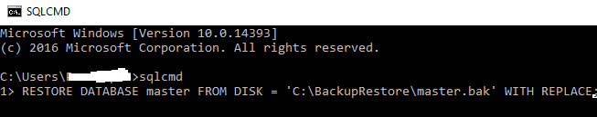 Restore Master Database SQL Server