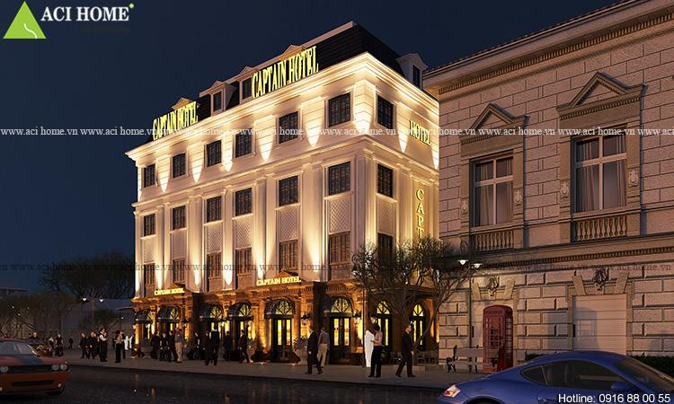 Thiết kế khách sạn Captain Hotel 5 tầng tại Hạ Long - Ảnh 4