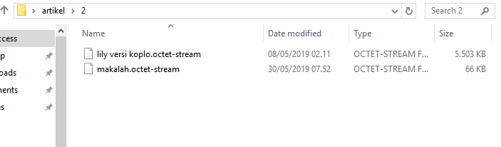 Contoh File .octed-stream